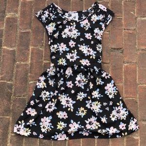 Floral Dress w/ Waist Tie